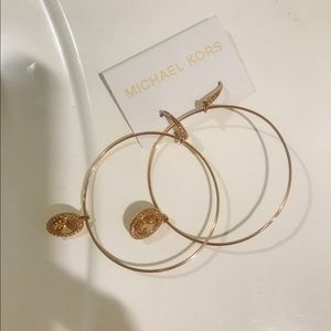 Rose Gold crystal hoop pave earrings